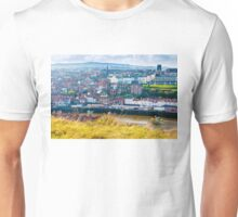 Scenic view of Whitby city in autumn sunny day Unisex T-Shirt