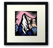 Mountain Climbing Abstract Framed Print