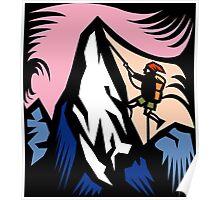 Mountain Climbing Abstract Poster