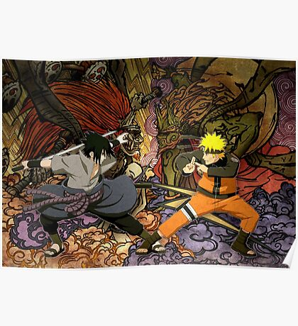 Naruto and Sasuke Poster
