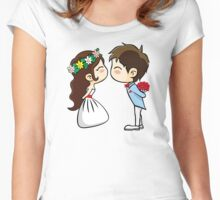 You and Me together forever - Tu y Yo juntos por siempre Women's Fitted Scoop T-Shirt