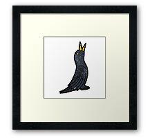 cartoon black bird Framed Print