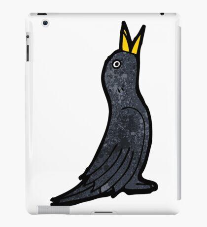 cartoon black bird iPad Case/Skin