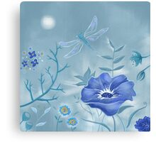 Melody in Blue Canvas Print