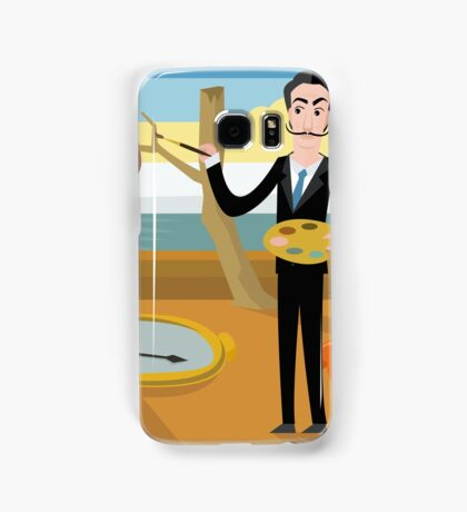 surrealist painter on watches and clocks oniric background landscape Samsung Galaxy Case/Skin