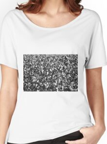 Cotton In Black And White Women's Relaxed Fit T-Shirt