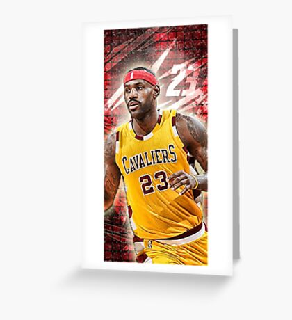 Lebron James Greeting Card