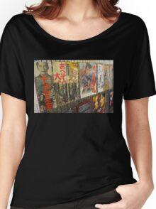 Tokyo Vintage Japanese Movie Posters under Yurakucho Railway Line Bridge Women's Relaxed Fit T-Shirt