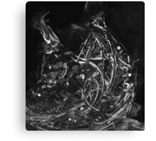 Abstract Shapes 3 - Black & White Canvas Print