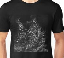 Abstract Shapes 3 - Black & White Unisex T-Shirt