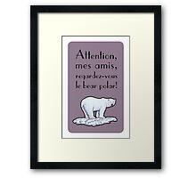 le bear polar - speech bubble/lilac Framed Print
