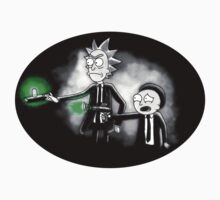 Pulp Ricktion - Rick and Morty sticker travel mug by lavalamp