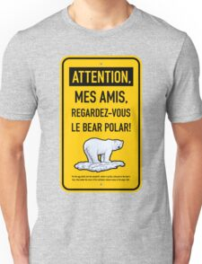 le bear polar sign/gold Unisex T-Shirt