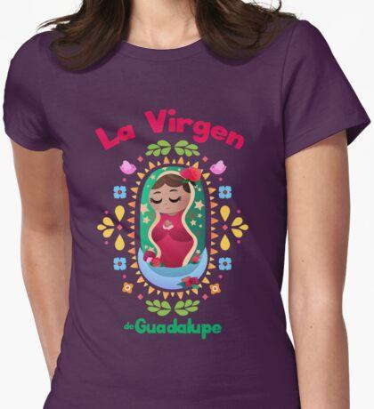 Mini La Virgen de Guadalupe Womens Fitted T-Shirt