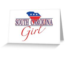 South Carolina Girl - Red, White & Blue Graphic Greeting Card