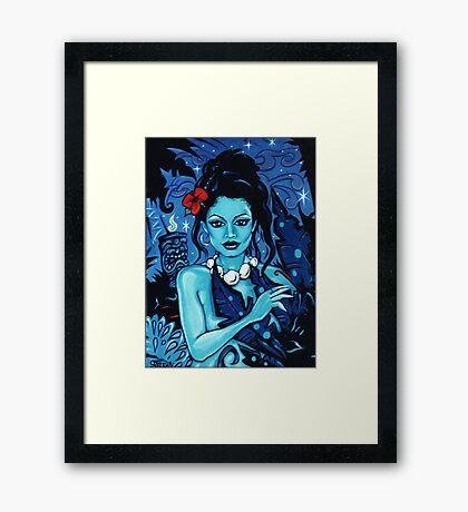 'Blue Tabu' Framed Print