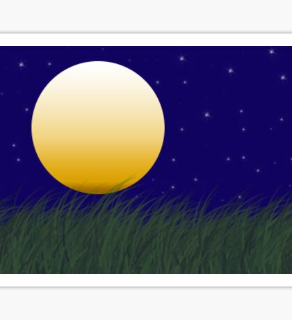 Night Landscape Sticker
