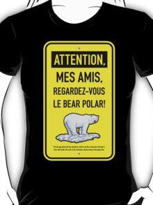 le bear polar sign/lemon T-Shirt