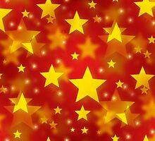 Seamless Christmas Stars by Henrik Lehnerer