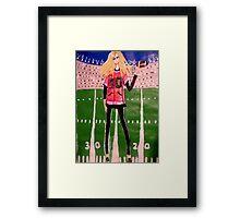 Sunday At The Stadium Framed Print