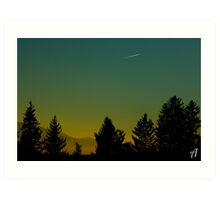 Beautiful Sunset In Austria Art Print