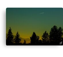 Beautiful Sunset In Austria Canvas Print
