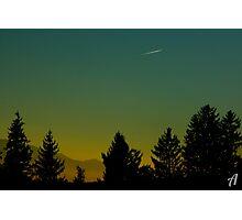 Beautiful Sunset In Austria Photographic Print
