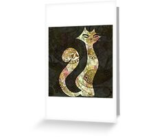 The Tattoo Cats -  Ivory and GoldTattoo Greeting Card