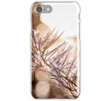 Autumn morning sunlight with bokeh iPhone Case/Skin