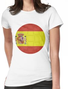 Spanish Flag Womens Fitted T-Shirt