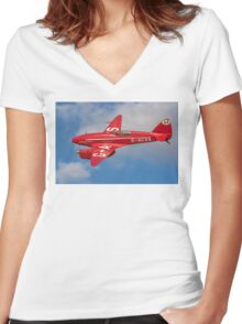 De Havilland Comet Racer G-ACSS Women's Fitted V-Neck T-Shirt
