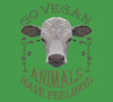 GO VEGAN - ANIMALS HAVE FEELINGS Kids Clothes