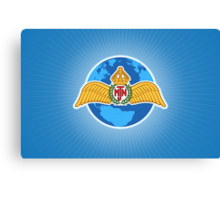 MJN logo/blue Canvas Print