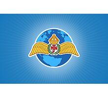 MJN logo/blue Photographic Print