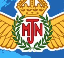 MJN logo/blue Sticker