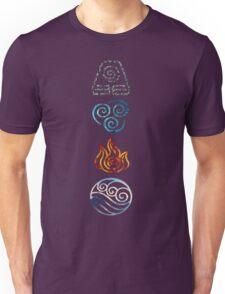 Avatar the Last Airbender Element Symbols Unisex T-Shirt
