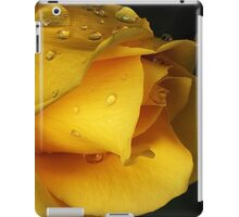 Yellow drops iPad Case/Skin