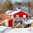 Winter at the Old Red Mill by Nadya Johnson