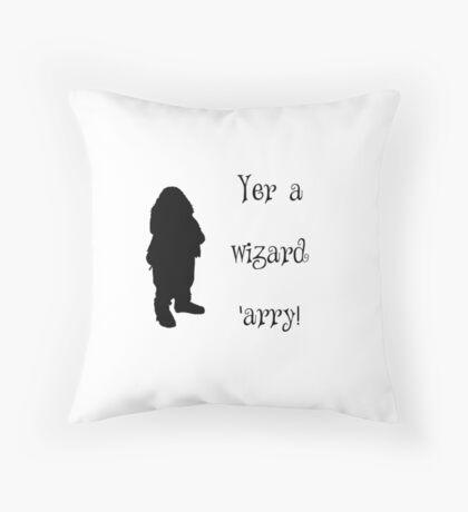 Yer a Wizard 'arry Throw Pillow