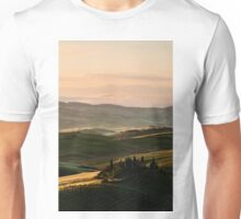 Sunrise in Val d'Orcia, Tuscany Unisex T-Shirt