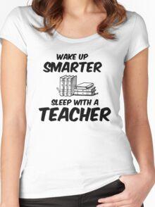 Sleep With A Teacher Women's Fitted Scoop T-Shirt