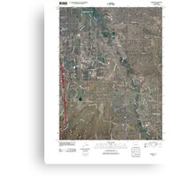 USGS TOPO Map Colorado CO Parker 20100831 TM Canvas Print