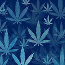 Marijuana Cannabis Weed Pot Dark Blue by MarijuanaTshirt