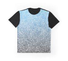 Zen Clouds Blue Gradient Graphic T-Shirt