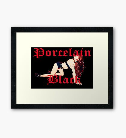 Porcelain Black (Black Bar, V2) Framed Print
