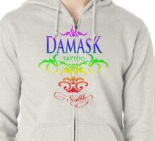 Rainbow Pride Damask Tattoo Seattle Zipped Hoodie
