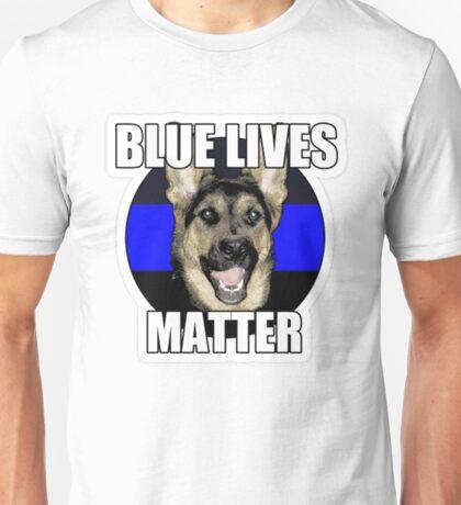 Blue Lives Matter Police Safety Police Dog  Unisex T-Shirt