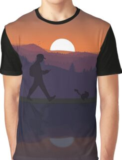 Pokemon Walking Sunset Graphic T-Shirt