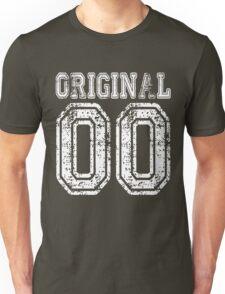 Original 00 2000 T-shirt Birthday Gift Age Year Old Boy Girl Cute Funny Man Woman Jersey Style Unisex T-Shirt