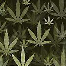 Marijuana Cannabis Weed Pot Pickle Green Background by MarijuanaTshirt